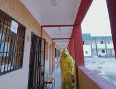 شباب متطوعون يعقمون لجان امتحانات الثانوية العامة ببئر العبد شمال سيناء