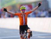 متسابقة هولندية ترفع يدها بالخطأ اعتقادا بفوزها بذهبية فى الأولمبياد