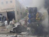 السيطرة على حريق محدود بمصنع منسوجات بالعاشر من رمضان.. صور