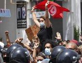 تونس تنتفض ضد الإخوان ..دعم شعبي لقرارات الرئيس قيس سعيد.. ألبوم صور
