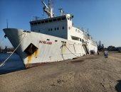 ميناء غرب بورسعيد يستقبل سفن صودا ورخام ومواشى حية