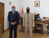 السفير التونسى يستقبل الرئيس التنفيذى لمهرجان السينما الفرانكوفونية