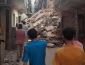 انهيار منزل مكون من 5 طوابق فى مدينة دمنهور بالبحيرة