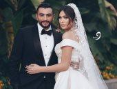 أول صور من فرح الفنانة هاجر أحمد بحضور أحمد جمال.. فيديو