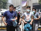 توافد طلاب الثانوية على لجان مصر الجديدة لأداء امتحانى الأحياء والاستاتيكا