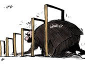 حركة النهضة الإخوانية فى طريقها نحو الزوال فى تونس بكاريكاتير سعودى