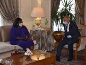 أبوالغيط يستقبل وزيرة خارجية جنوب السودان