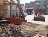 رصف عدد من الشوارع فى بيلا بكفر الشيخ بعد الانتهاء من توصيل الغار ضمن حياة كريمة