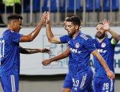 أولمبياكوس يتفوق على نيفتشي1-0 فى شوط أول بـ دورى أبطال أوروبا.. فيديو