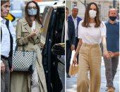 ملكة الألوان المحايدة .. أنجلينا جولي تتألق بـ 4 إطلالات مميزة في باريس