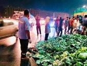 انقلاب سيارة يتسبب فى تعطل طريق القاهرة - الإسكندرية.. وإعادة تسيير المرور
