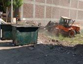 رفع مخلفات وقمامة من شوارع مدينة أرمنت غرب الأقصر ..صور