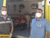 أول حالة ولادة طبيعية داخل سيارة إسعاف بالفيوم وإطلاق اسم المسعف على المولود