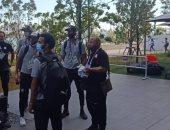منتخب مصر يصل مقر القرية الأولمبية استعداداً لمواجهة البرازيل.. صور