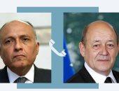 وزير الخارجية يؤكد لنظيره الفرنسى ضرورة التوصل لحل عادل لقضية سد النهضة