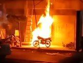 حريق محل كشرى بكفر الشيخ والحماية المدنية تتمكن من إخماده دون إصابات