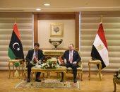 النائب العام يناقش مع نظيره الليبى مكافحة جميع الجرائم المنظمة والاتجار بالبشر (فيديو)