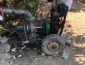 وفاة طفلة خنقاً التفت طرحتها حول ماكينة رى بالغربية.. صور