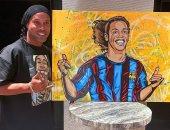 رونالدينيو يتحول إلى رسمة كاريكاتيرية بلمسة من أحد معجبيه.. صورة