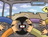 خلافات النخبة السياسية فى لبنان ستسقط الدولة فى كاريكاتير إماراتى