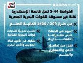 الغواصة (S-44) تنضم للقوات البحرية بعد وصولها قاعدة الإسكندرية.. إنفوجراف