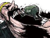 كاريكاتير اليوم.. داعش والمليشيات يبتلعون العراق