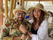 الصور الأولى لـ هاجر أحمد وأحمد الحداد من شهر العسل
