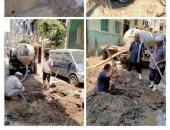 صيانة شبكات مياه الشرب والصرف بالعياط والحوامدية وحى جنوب الجيزة.. صور