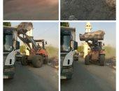رفع 1500 طن مخلفات مبانى ورتش بطريق أبوصير بمدينة الحوامدية
