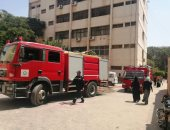 السيطرة على حريق محدود بإدارة مستشفيات جامعة الزقازيق