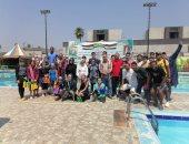 """""""شباب كفر الشيخ"""" تنظم المهرجان الرياضى للسباحة الحرة"""