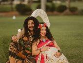 محمد ثروت فى جلسة تصوير طريفة مع زوجته قبل ولادتها: عائلة ماوى وموانا