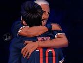 نيمار يرحب بـ ميسي فى باريس سان جيرمان بعد رحيله عن برشلونة