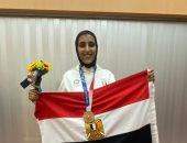 المركز الأولمبى يستقبل جيانا فاروق بعد العودة ببرونزية طوكيو 2020