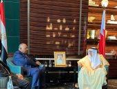 سامح شكرى يتشاور مع نظيره البحرينى حول المستجدات الإقليمية المتلاحقة