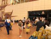 استقبال السائحين الروس بالورود في مطار شرم الشيخ