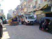 حملات مكثفة لإزالة تراكمات القمامة وإنجاز أعمال الصيانة في المنيا.. صور
