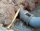 تركيب خط مياه صلب 630 مم بطريق عزبة البرج فى دمياط
