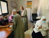 حياة كريمة.. الكشف وتوفير العلاج لــ850 مواطنا بقافلة طبية فى بنى سويف