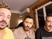 زغروطة من تامر حسنى احتفالا بانتهاء أزمة دياب ونصر محروس بعد فترة خلافات