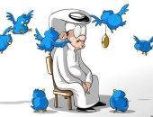 """كثرة """"التويتات"""" إهدار للوقت وانعزال خلف الشاشات في كاريكاتير سعودى"""
