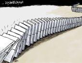 توالى تساقط المدن الأفغانية فى يد مسلحى طالبان فى كاريكاتير سعودى