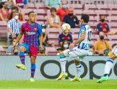 ريال سوسيداد يقلص الفارق أمام برشلونة 3-2 بهدفين فى 3 دقائق.. فيديو