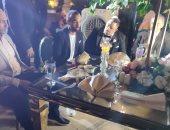 شاهد.. رقص أفشة مع محمود وأحمد علاء في زفاف مدافع الجيش