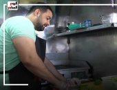 زيزو بطل رفع أثقال من ذوى الهمم وفاتح مشروع أكل وزوجته تسانده.. فيديو