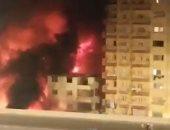 النيابة تنتدب المعمل الجنائي لمعاينة حريق مخزن إطارات السيارات فى المرج