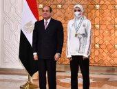 جيانا فاروق: تكريم الرئيس السيسى لي يعطينى دفعة لتحقيق مزيد من الإنجازات