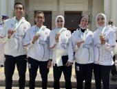 سيف عيسى ينشر صورة من تكريم الرئيس عبد الفتاح السيسى لأبطال الأولمبياد