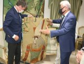 صور ..محافظ جنوب سيناء يستقبل سفير بلجيكا