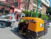 ضبط 64 توك توك مخالف بمدينة الزقازيق خلال حملات مرورية.. صور
